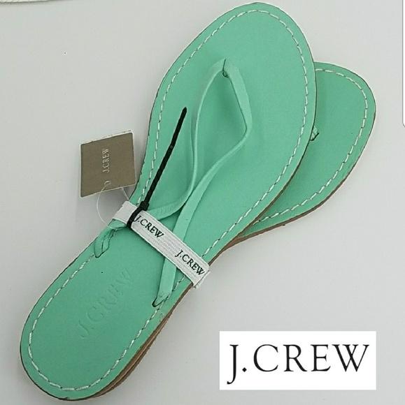 2d3eaa892dc J Crew Capri Leather Sandal Mint Green